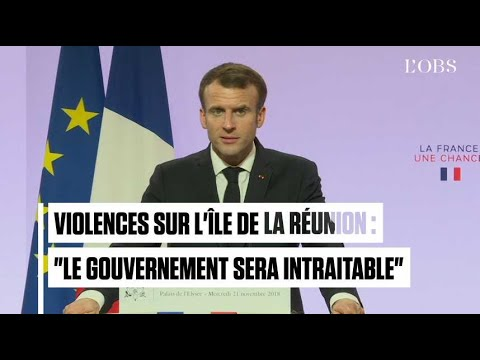 "Violences à La Réunion : Emmanuel Macron sera ""intraitable"""