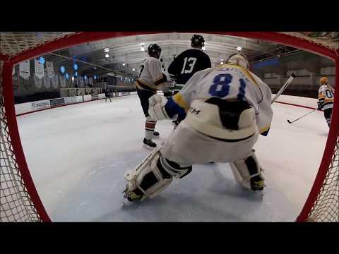 Battle for 1st! Chiefs vs Lazy Whalers. Beer League Hockey. Bender Goaltender Net Cam.