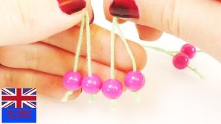Beads Jewelry making | How to make these cherries with beads for kids