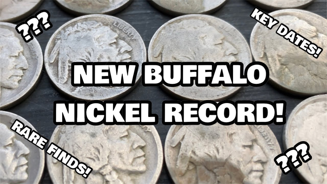 BUFFALO NICKEL HOARD FOUND COIN ROLL HUNTING! RARE KEY DATES + PERSONAL RECORD! Watch And See!
