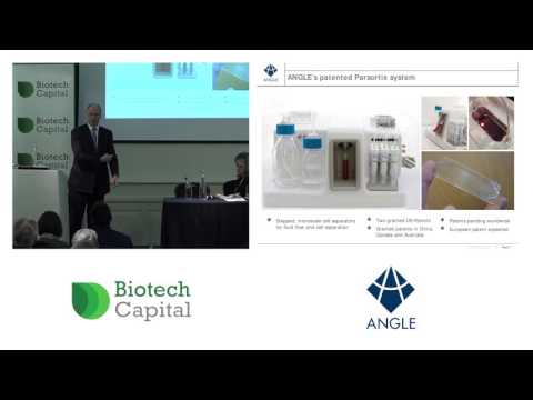 ANGLE CEO Andrew Newland outlines the merits of the company's Parsortix System