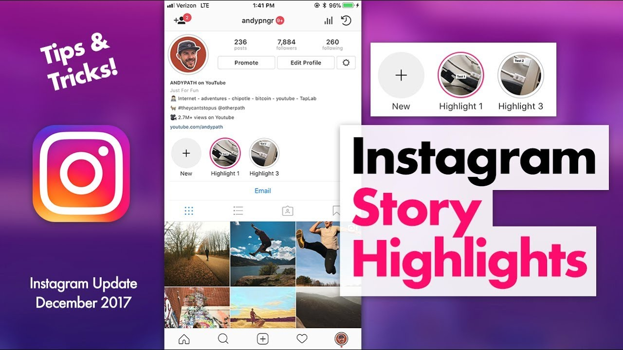 How to use instagram story highlights and story archive youtube how to use instagram story highlights ccuart Gallery