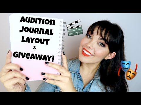Audition Journal Layout + Giveaway! | INTERNATIONAL GIVEAWAY [Closed]