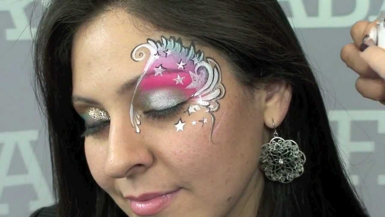Pink Eyes A Face Painting Step By Step Youtube