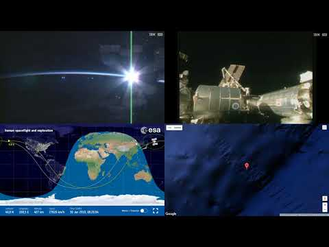Orbital Sunset Over Asia - ISS Space Station Earth View LIVE NASA/ESA Cameras And Map - 49