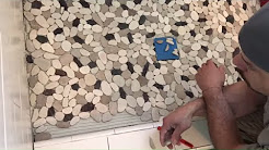 Easy Pebble Tile Installation