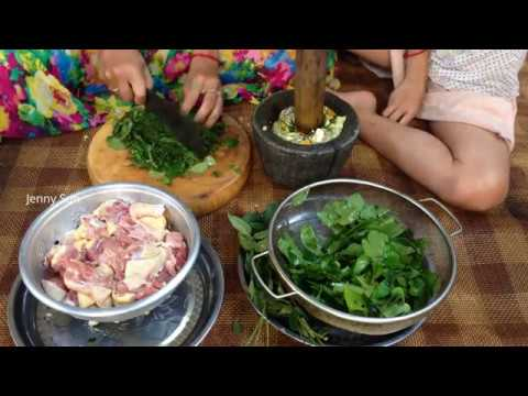 Cooking Black Muscovy Duck With Sour Leaves ( Sleuk Khneung) - Country Food  in my Village