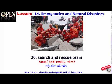 Oxford dictionary | 14. Emergencies and Natural Disasters | Oxford picture dictionary 2nd edition