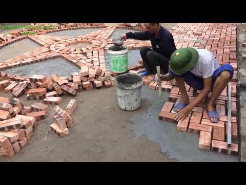 План строительства красивых традиционных кирпичей ручной работы