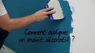 Comment Appliquer Un Enduit Decoratif Youtube
