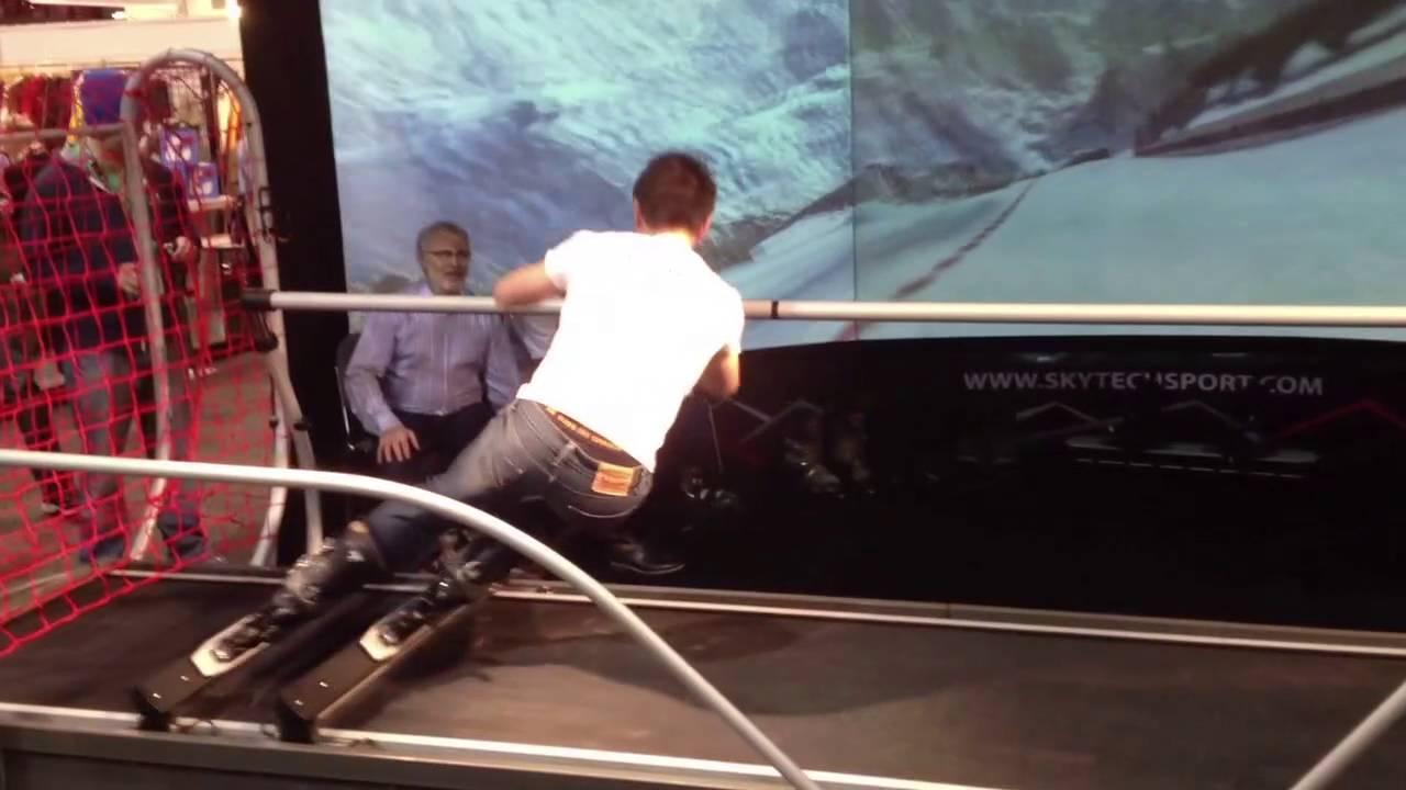 Ski Simulator At Sia 2013 Youtube