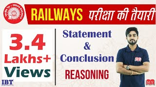 Railway Group D/ALP Exam || Statement and conclusion