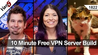 10 Minute Free VPN Server Build, Hak5 1822(VPNs are great for protecting your Internet traffic when on untrusted networks - like Public WiFi. So many times it's thrown around as advice