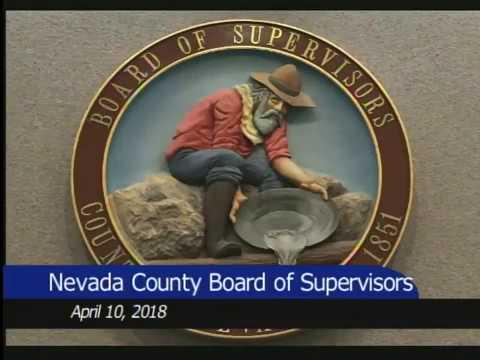Nevada County BOS April 10, 2018