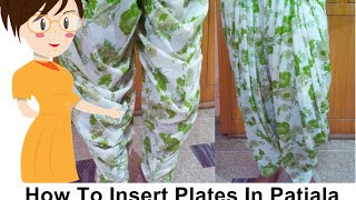 How To Insert Plates In Patiala Salwar - Tailoring With Usha