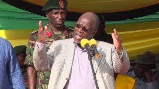 LIVE: JPM akihutubia ziarani katika kiwanda cha Sukari Kagera