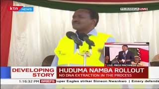 HUDUMA NAMBA ROLLOUT: Kalonzo Musyoka urges Murang\'a residents to register
