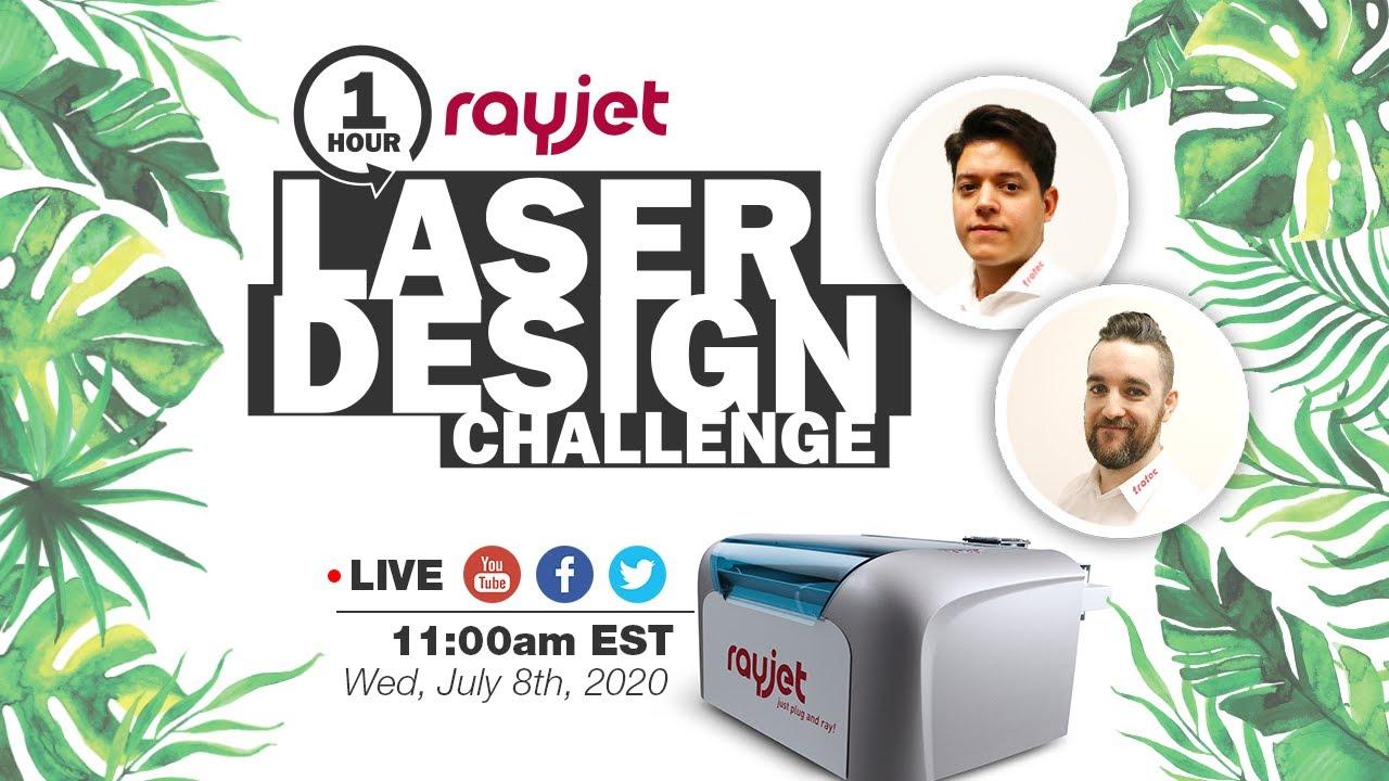 Laser Cut Jewelry | 1HR Laser Design Challenge | Rayjet Laser