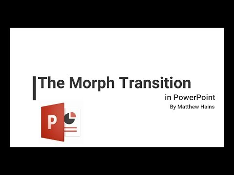 The morph transition in PowerPoint