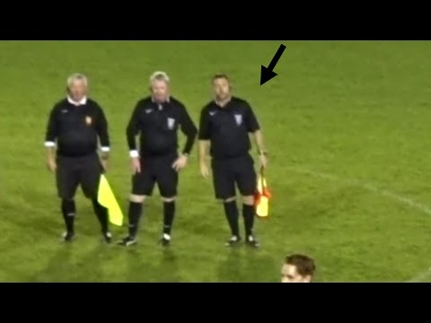 Linesman Threatens to Shove His Flag up a Managers Backside.