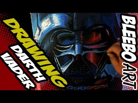 Pop Art Drawing - DARTH VADER [BLEEBO ART]
