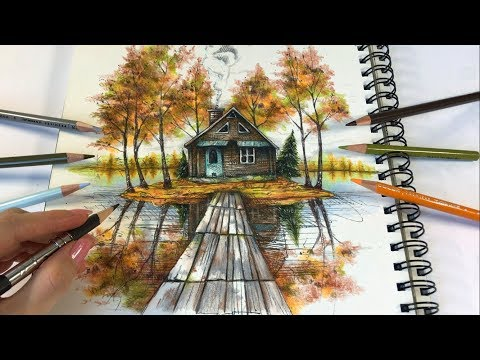 The Lake House | Ticket To Dreams Coloring Book by Karolina Kubikowska