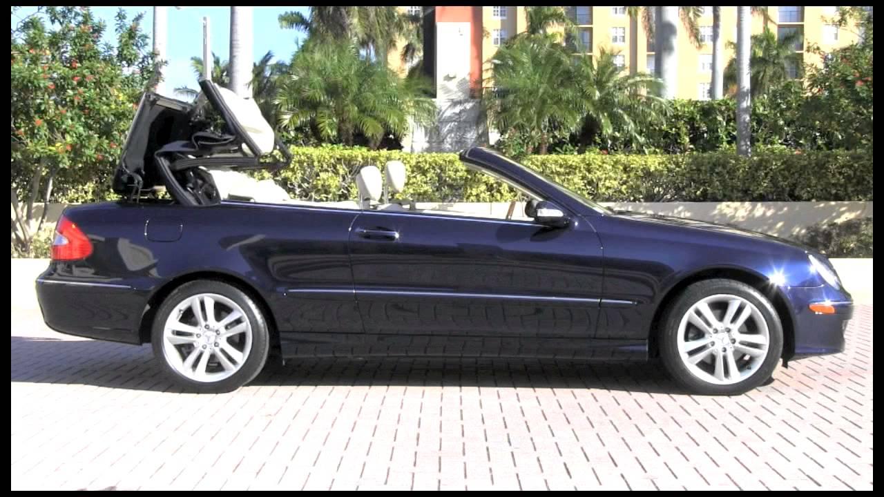2006 Mercedes Benz Clk350 Convertible Capri Blue Metallic