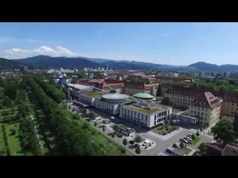 Flug über die Uniklinik Freiburg mit Zentrum für Psychische Erkrankungen und Hautklinik