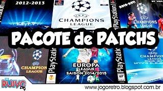 UEFA Champions League (De 2003 a 2014) PACOTE de PATCHS no Playstation 1 / PS1