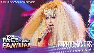 "Your Face Sounds Familiar: Denise Laurel as Christina Aguilera - ""Lady Marmalade"""
