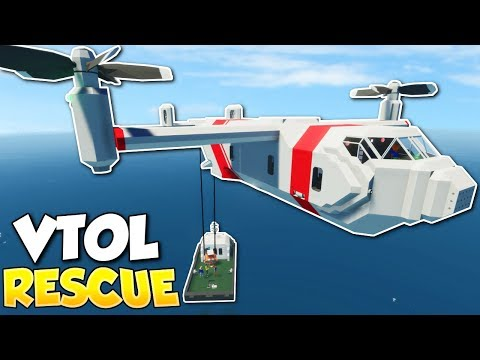 VTOL PLANE RESCUE! - Stormworks: Build and Rescue Multiplayer Gameplay - VTOL Rescue Missions