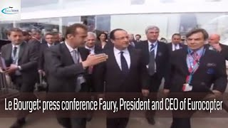 Le Bourget: press conference Faury , President and CEO of Eurocopter