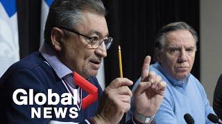 Coronavirus outbreak: Quebec government shuts down schools, shopping malls until May 1 | FULL