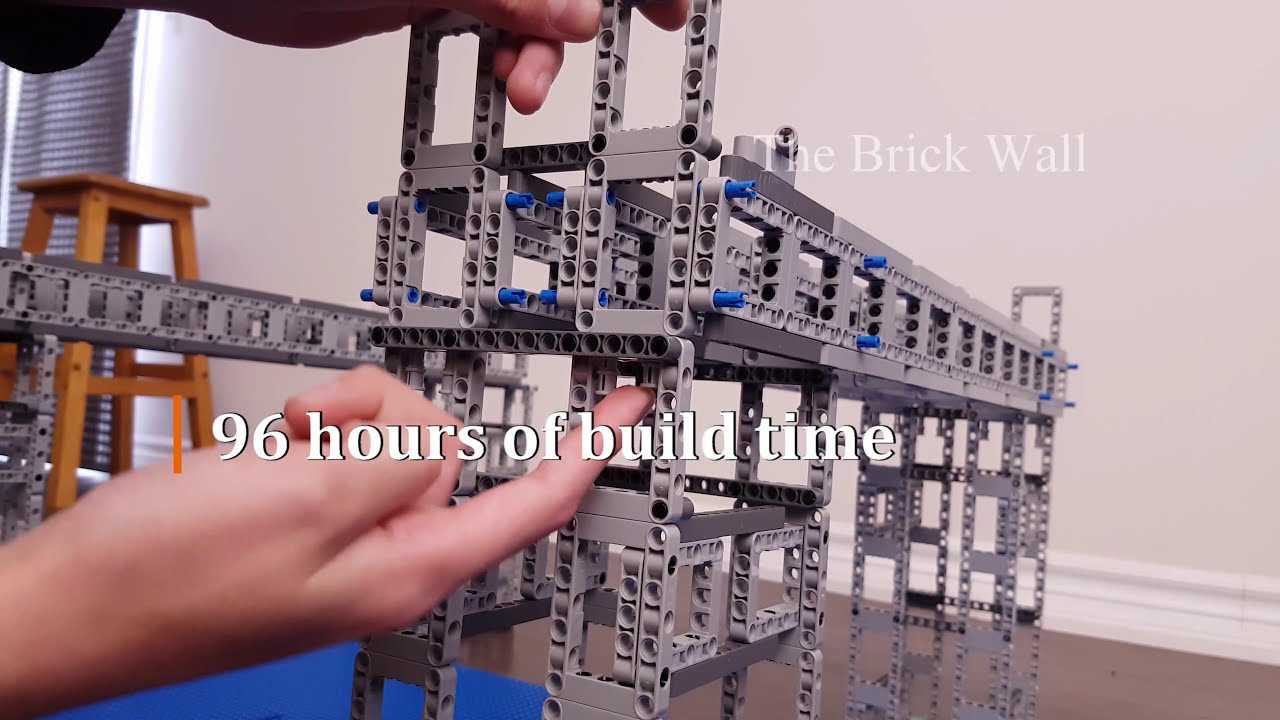 Kid Builds a LEGO Bridge to Go with His Technic Bugatti Chiron