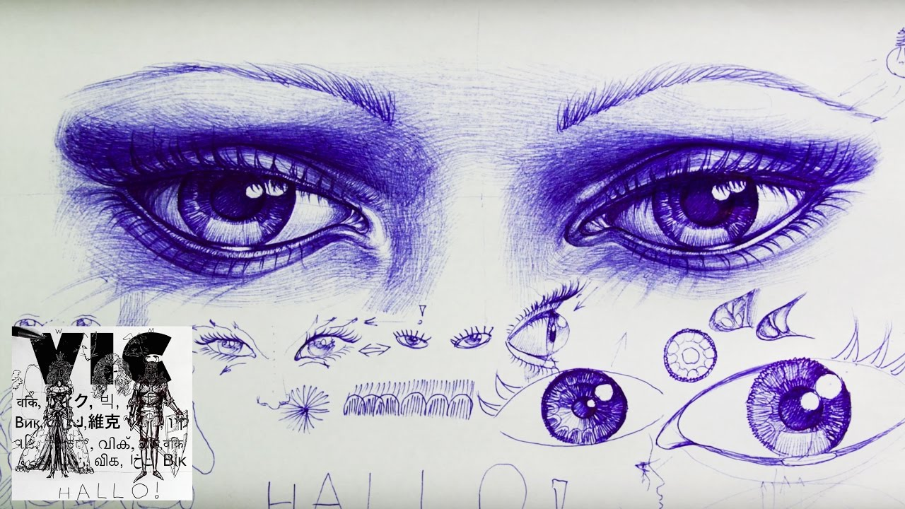 Characteristics Of Eyes How To Draw Eyes Drawing With A Ballpoint