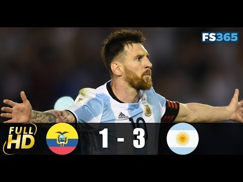 Ecuador vs Argentina - Highlights & Goals - 10 October 2017