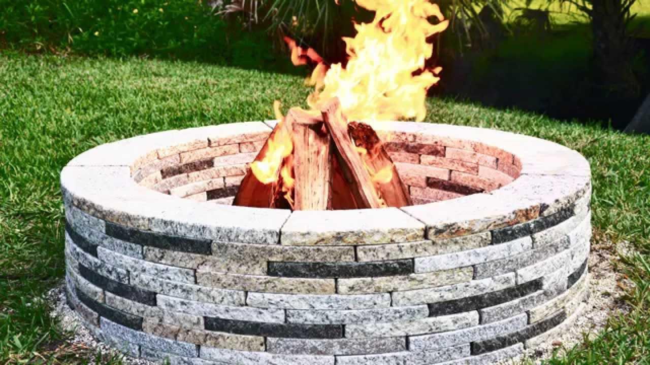 Encore Stone Round Granite Fire Pit: DIY Guide - YouTube
