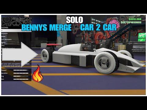 GTA 5 Online - SOLO BENNYS MERGE (CAR 2 CAR) *F1 CAR * PS4 & XBOX*