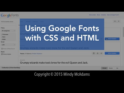 Google Fonts With HTML And CSS (OLD - See Link In Description)