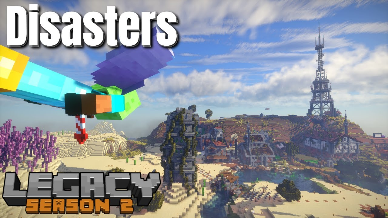 Minecraft Survival | LegacySMP Disasters | The Nether Drowned Farm and Elytra