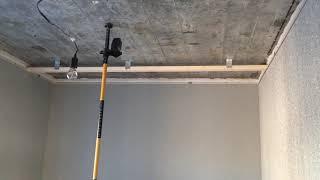 Закладная для шкаф-купе на натяжном потолке
