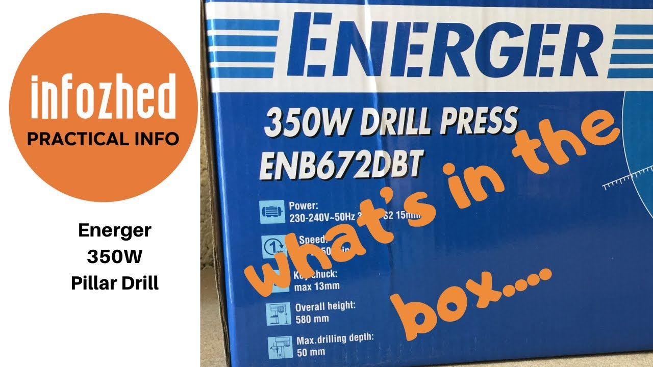 ENERGER ENB672DBT 290MM PILLAR DRILL 230-240V High Quality And Easy To Use