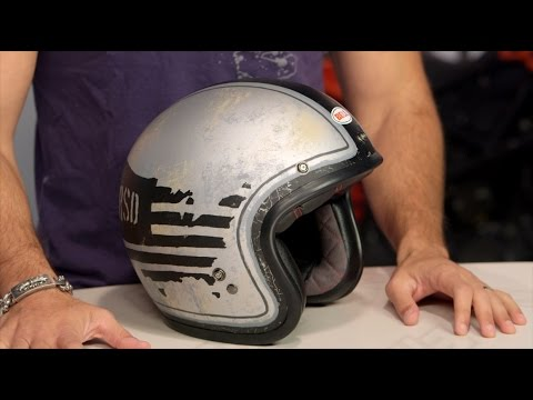 Carbon Fiber Motorcycle Helmets >> Bell Custom 500 RSD 74 Helmet Review at RevZilla.com - YouTube