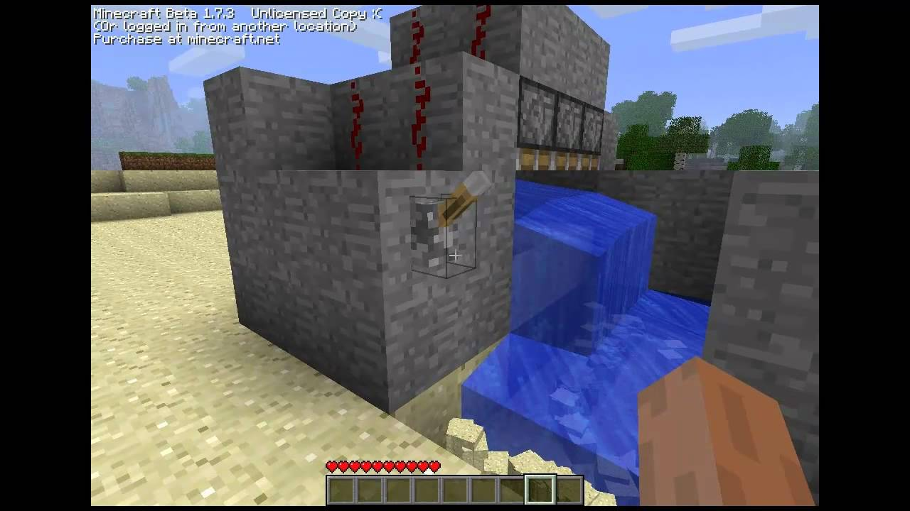 Minecraft Sand Gravel Automatic Farm 1 7 3 Youtube