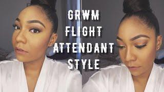 GRWM: Flight Attendant Style | Ashley Smith TV