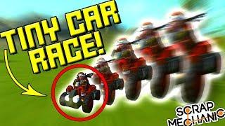 SUPER TINY CAR RACE! - Scrap Mechanic Multiplayer Monday Ep52