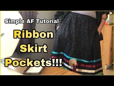 Simple AF POCKETS Tutorial for Ribbon Skirts
