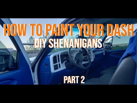HOW TO PAINT YOUR DASHBOARD PART 2  ( Duplicolor Vinyl And Fabric Spraypaint ) Truck Wars Prep