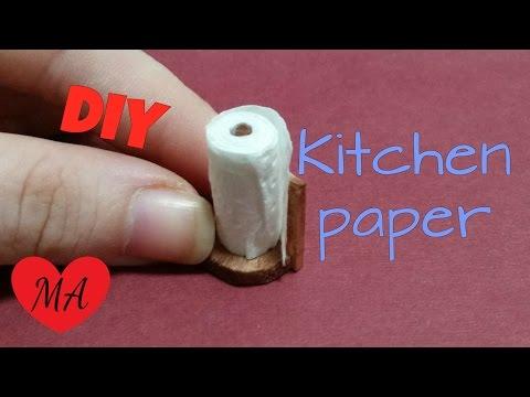 MINIATURE kitchen paper TUTORIAL // DOLLHOUSE // DIY