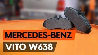Kā nomainīt Bremžu uzlikas MERCEDES-BENZ VITO Bus (638) - tiešsaistes bezmaksas video